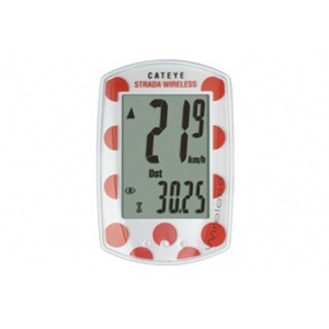 CATEYE RD300W STRADA (WHITE/RED DOT)