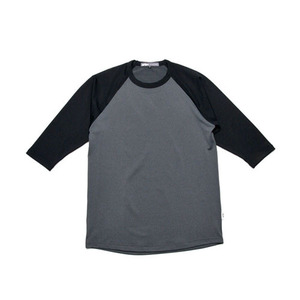 GRIPE ¾ RAGLAN T-SHIRTS (BLACK/CHARCOAL)