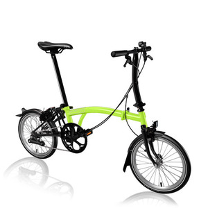 BROMPTON S2L BLACK EDITION LIME GREEN