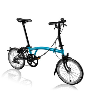 BROMPTON S2L BLACK EDITION LAGOON BLUE