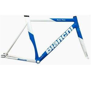 BIANCHI SUPER PISTA FRAME SET 2011 (WHITE/BLUE)